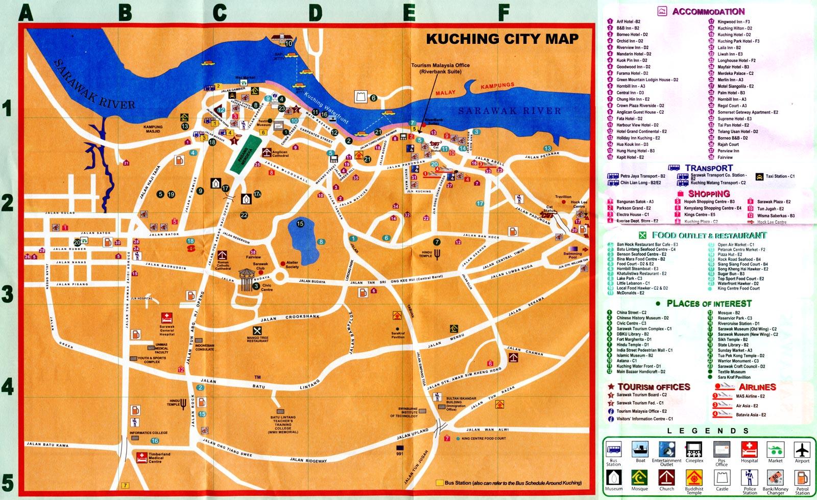 FLEXI CAR RENTAL SDN BHD - Kuching map